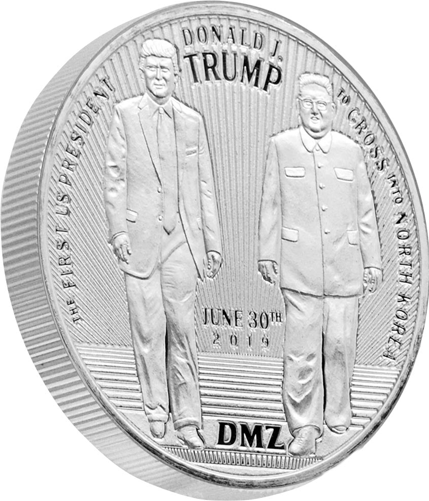 this is our trump dmz commemorative coin - .999 1oz silver -