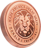 this is our trump lion commemorative coin - .999 1oz copper-