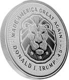 this is our trump lion commemorative coin - .999 1oz silver -