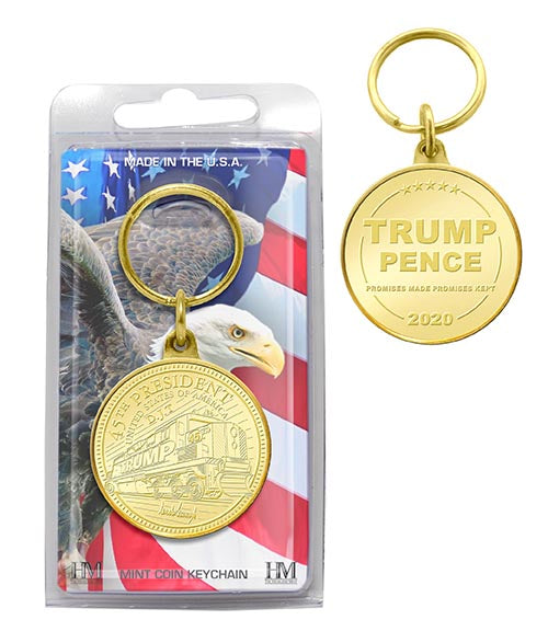 Bronze Trump Train Key Chain