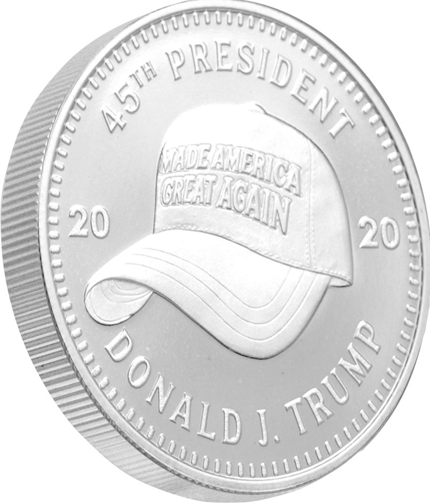 this is where it all started. the MAGA hat made the Trump Presidency what it is and it is an amazing addition to our Trump Coin Series.
