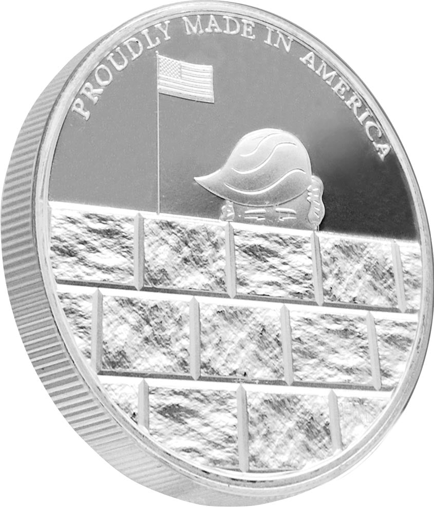 this is our trump build the wall commemorative coin - .999 1oz silver -