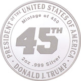 President Trump & First Lady Melania 2oz Silver Coin Pre-Order Low Mintage of 450
