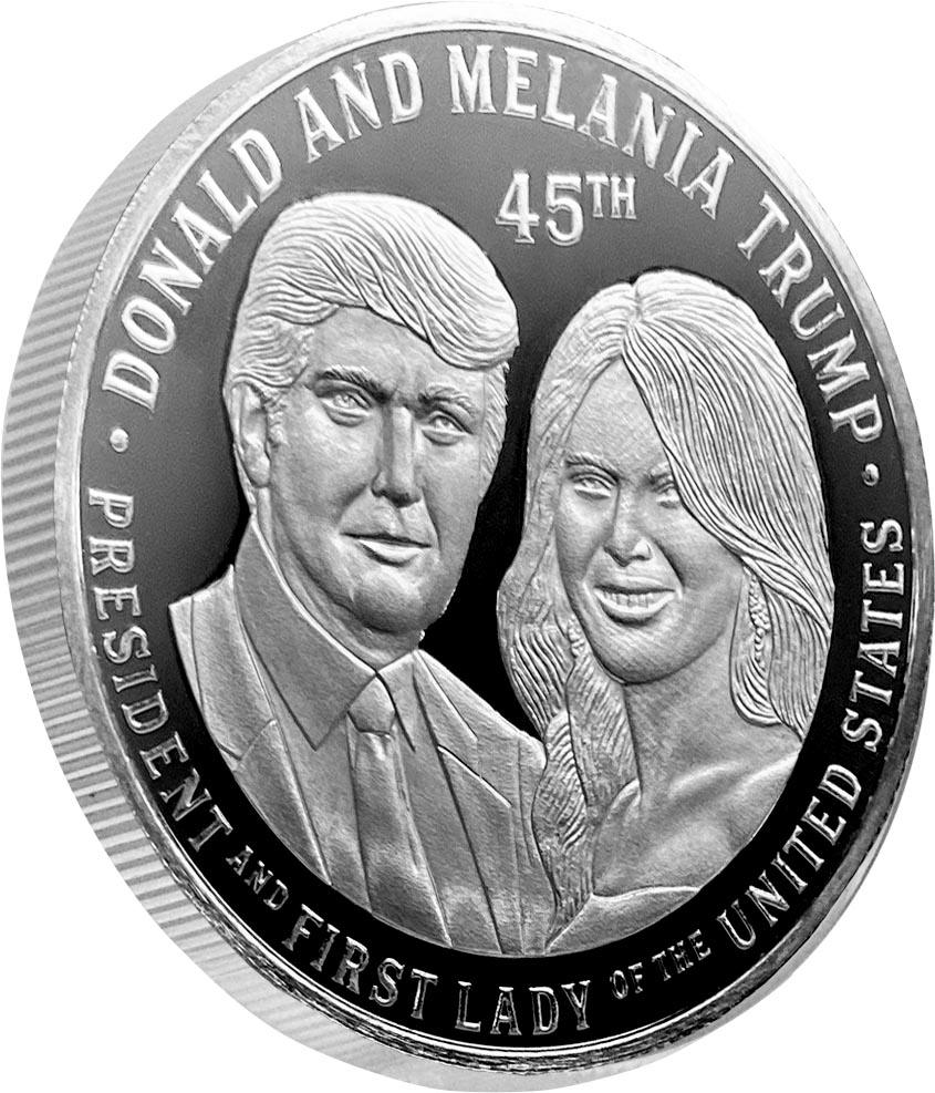 President Trump and First Lady Melania 2oz Silver Commemorative Coin limited edition of only 450