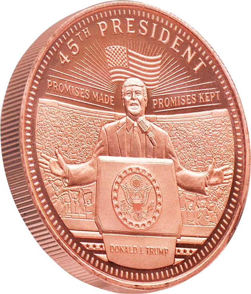 this is our trump commemorative coin series - .999 1oz copper-
