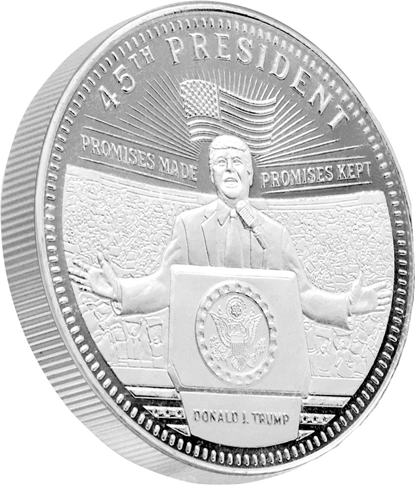this is our trump rally commemorative coin - .999 1oz silver -
