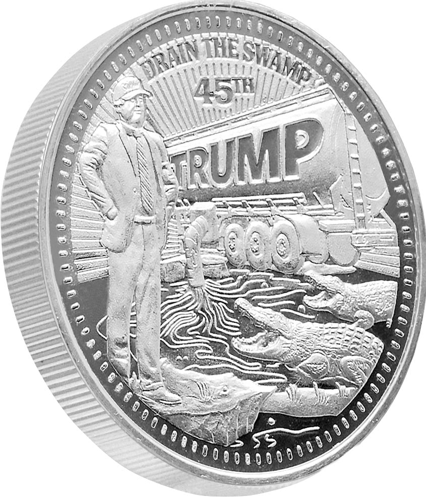 this is our trump draining the swamp commemorative coin - .999 1oz silver -