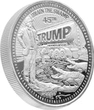 President Trump Draining The Swamp 1oz SIlver Coin