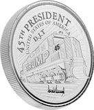 this is our trump train commemorative coin - .999 1oz silver - shows the trump train with a snowflake plow on the front