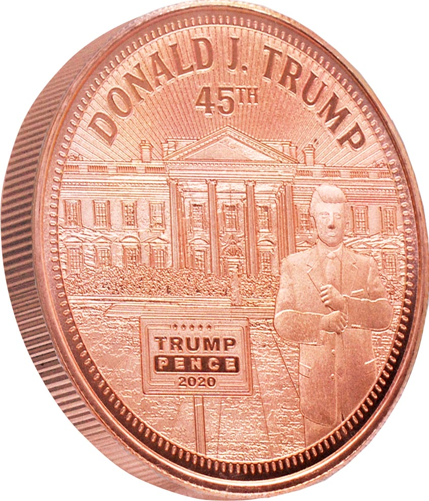 this is our trump white house commemorative coin - .999 1oz copper- shows the trump train with a snowflake plow on the front