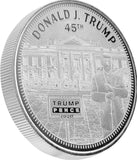 this is our trump white house commemorative coin - .999 1oz silver - shows the trump train with a snowflake plow on the front