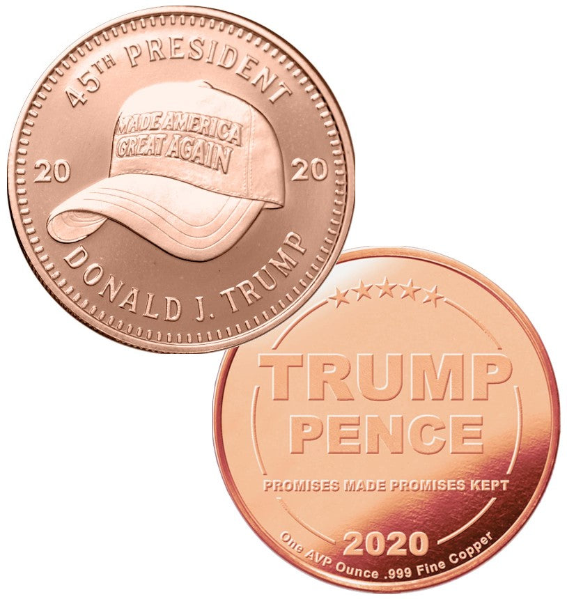 MAGA Hat 1oz Copper President Trump Commemorative Coin