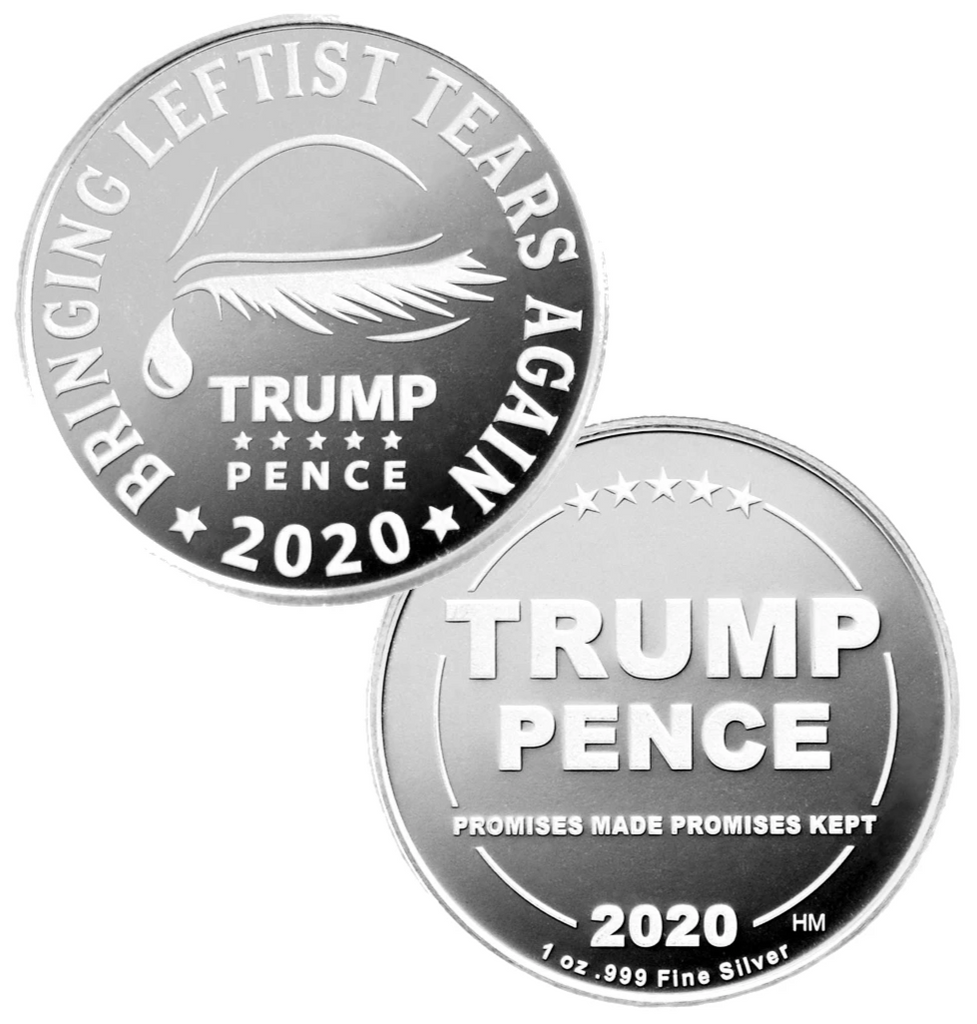 this shows the front and back to the leftist tears Trump Commemorative coin. Since there has been so much winning and so much crying here is the coin to commemorate both