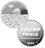 this is our trump build the wall commemorative coin - showing the trump / pence reverse that is standard on all of our 1oz coins - .999 1oz silver -
