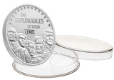 this is our trump deplorables commemorative coin - showing the trump / pence reverse that is standard on all of our 1oz coins - .999 1oz silver -
