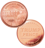 this is our trump white house commemorative coin - showing the trump / pence reverse that is standard on all of our 1oz coins - .999 1oz copper-