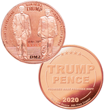 this is our trump dmz commemorative coin - showing the trump / pence reverse that is standard on all of our 1oz coins - .999 1oz copper-