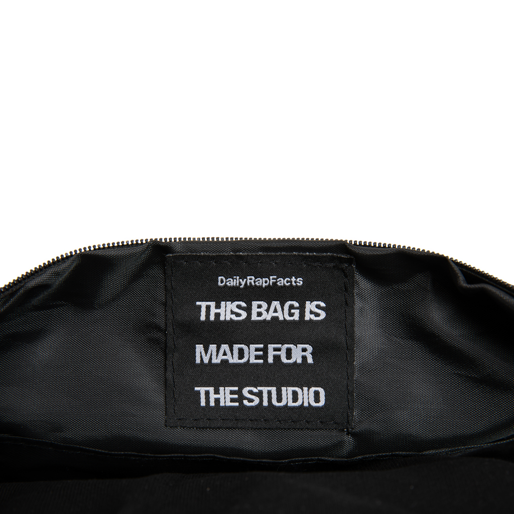Black this bag is made for the studio