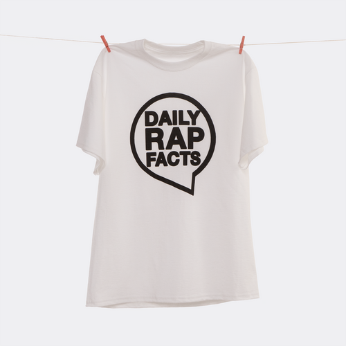 DailyRapFacts Black Logo T-Shirt - DailyRapFacts Store