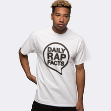Load image into Gallery viewer, DailyRapFacts Black Logo T-Shirt - DailyRapFacts Store