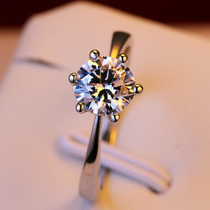 Classic Six Claw Wedding Ring