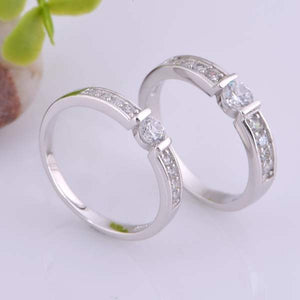 Nice Plated Gold 925 Jewelry Couple Rings