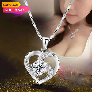 CZ Heart Austrian Crystal Stones Cubic Zirconia Necklaces