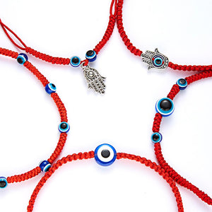 5 Style Hand Braided Lucky Red String Charm Bracelet Women / Men