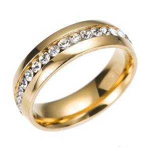Women Men Stainless Steel Engagement Ring