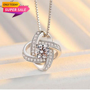 Forever Heart AAA Zircon Mosaic Necklaces & Pendants
