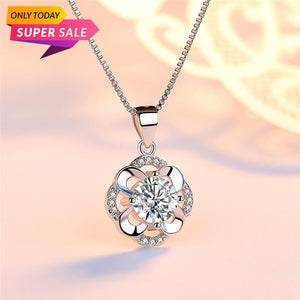 Romantic Four Leaf Flower Austrian Crystal Silver 925 Chains