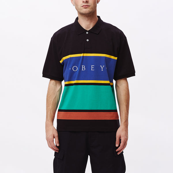 PLEDGE POLO SS BLACK MULTI | OBEY Clothing