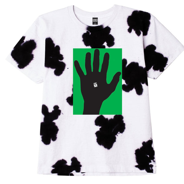 HAND OF OBEY HEAVYWEIGHT TIE DYE TEE WHITE | OBEY Clothing
