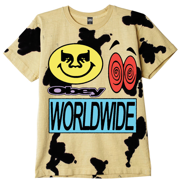 ACID CRASH HEAVYWEIGHT TIE DYE TEE YELLOW | OBEY Clothing