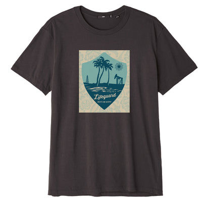 LIFEGUARD NOT ON DUTY SUPERIOR TEE OFF BLACK | OBEY Clothing