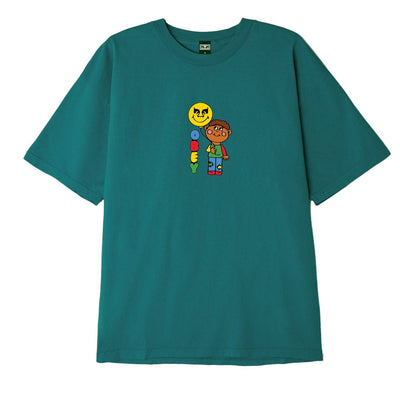 OBEY BALLOON HEAVYWEIGHT BOX TEE JADE | OBEY Clothing