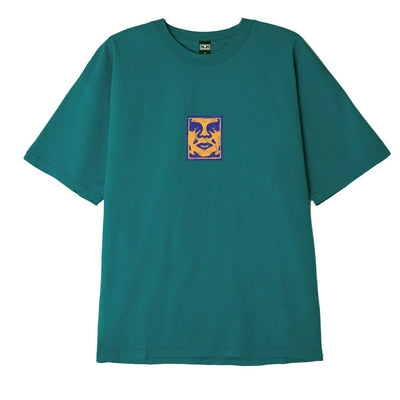 OBEY SKETCHY FACE HEAVYWEIGHT BOX TEE JADE | OBEY Clothing