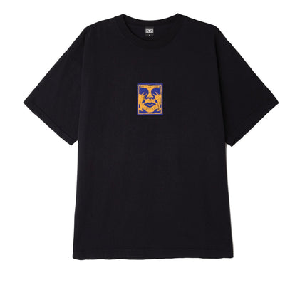 OBEY SKETCHY FACE HEAVYWEIGHT BOX TEE OFF BLACK | OBEY Clothing