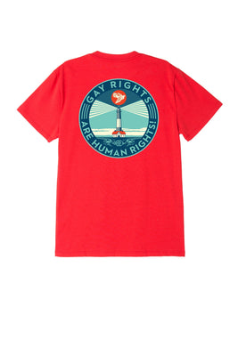 Fire Island Sustainable Tee Red | OBEY Clothing