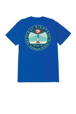 Fire Island Sustainable Tee Royal Blue | OBEY Clothing