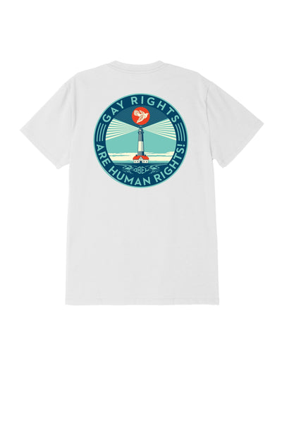 Fire Island Sustainable Tee White | OBEY Clothing