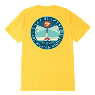 Fire Island Sustainable Tee Yellow | OBEY Clothing