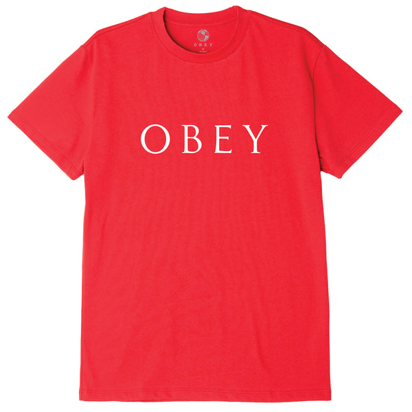 OBEY NOVEL 2 SUSTAINABLE TEE RED | OBEY Clothing