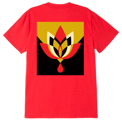 OBEY GEOMETRIC FLOWER 3 SUSTAINABLE TEE RED | OBEY Clothing