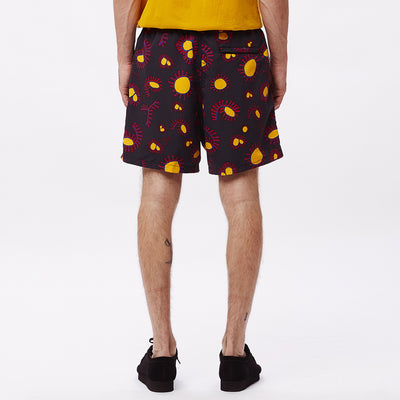 EASY RELAXED AMOEBA SHORT BLACK MULTI | OBEY Clothing