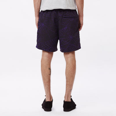 EASY RELAXED WEB SHORT PURPLE MULTI | OBEY Clothing