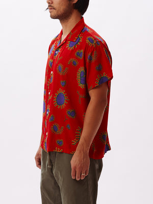 DUSTER WOVEN RED MULTI | OBEY Clothing