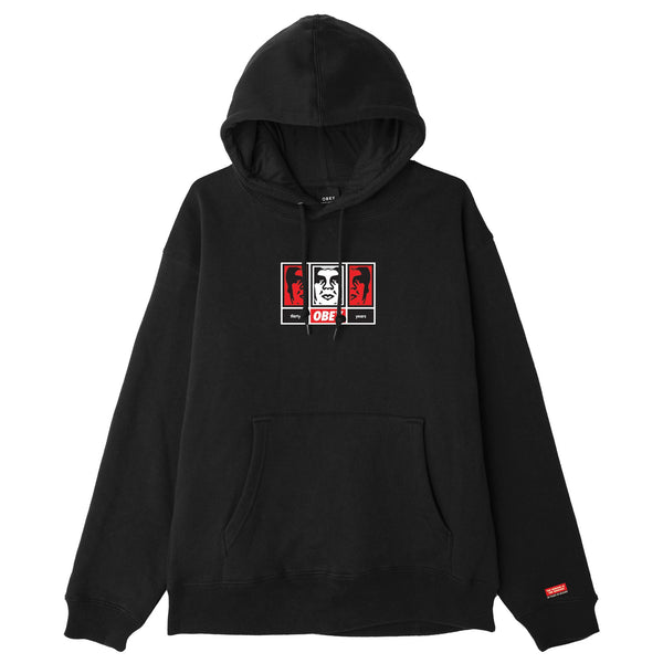 OBEY 3 FACES 30 YEARS HOODIE BLACK | OBEY Clothing