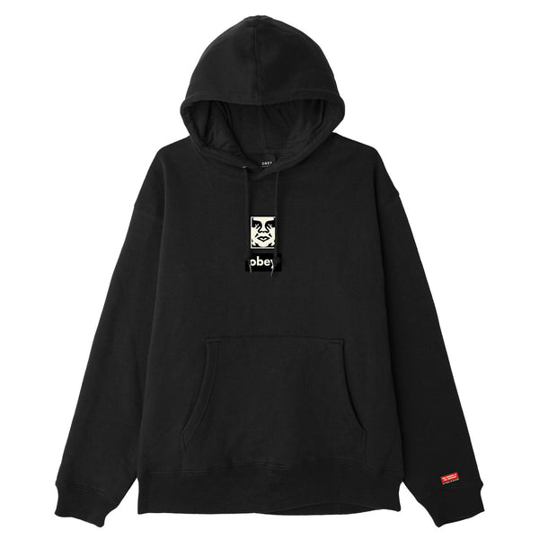 OBEY ICON FACE 30 YEARS HOODIE BLACK | OBEY Clothing