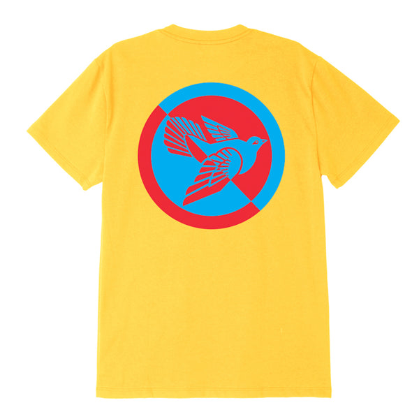 SPLIT DOVE SUSTAINABLE TEE YELLOW | OBEY Clothing